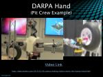 darpa hand pit crew example