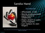 sandia hand