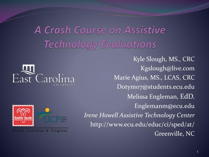 a crash course on assistive technology evaluations n.