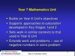 year 7 mathematics unit
