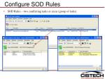 configure sod rules