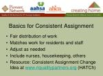 basics for consistent assignment