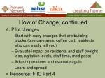how of change continued1