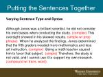 putting the sentences together1