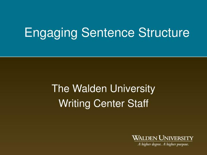 the walden university writing center staff n.