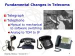 fundamental changes in telecoms1