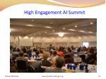 high engagement ai summit