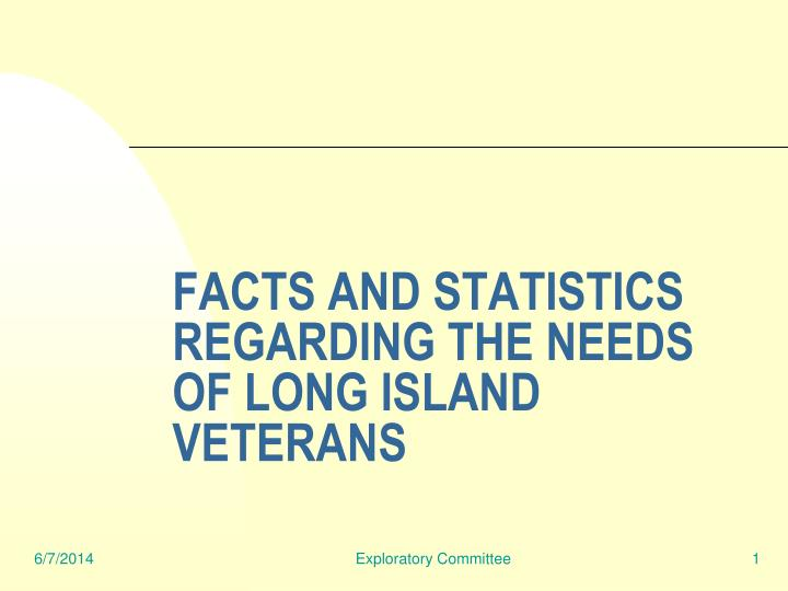 facts and statistics regarding the needs of long island veterans n.