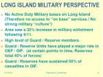 long island military perspective