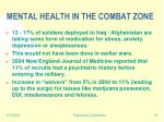 mental health in the combat zone