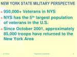 new york state military perspective