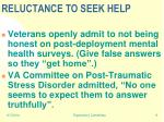 reluctance to seek help