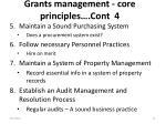 grants management core principles cont 4