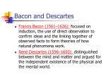 bacon and descartes