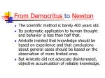 from democritus to newton