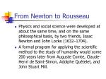 from newton to rousseau