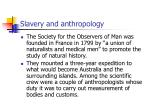 slavery and anthropology