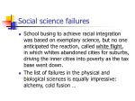 social science failures