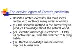 the activist legacy of comte s positivism