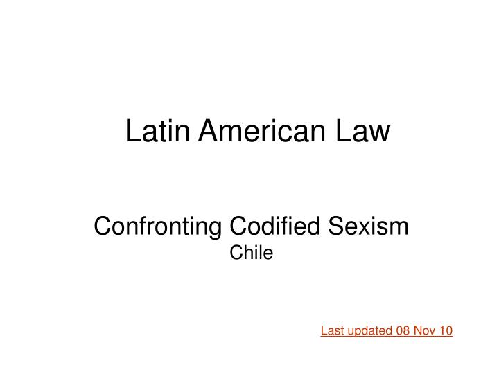 confronting codified sexism chile n.