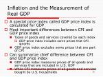 inflation and the measurement of real gdp
