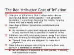 the redistributive cost of inflation