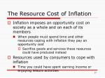 the resource cost of inflation