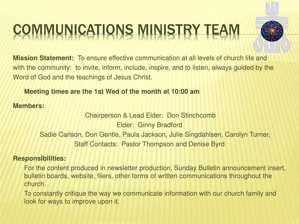 Communications ministry team