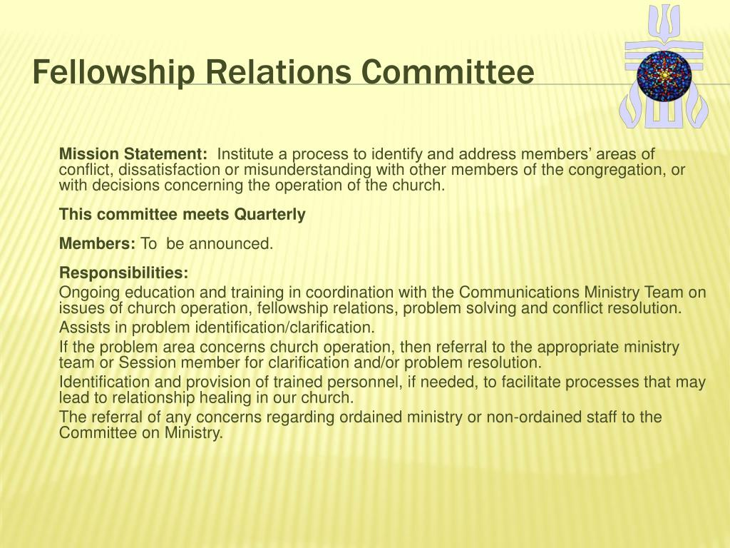 Fellowship Relations Committee