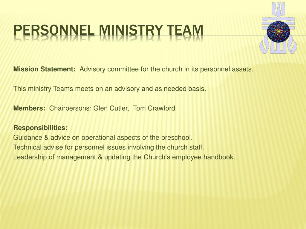 Personnel Ministry Team