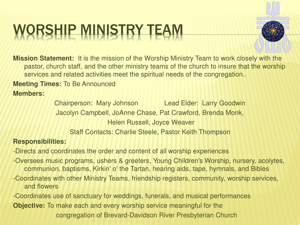 Worship ministry team