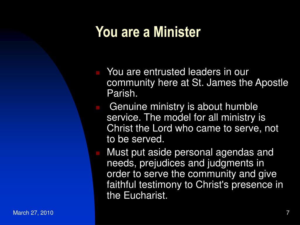 You are a Minister