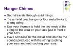 hanger chimes