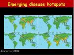 emerging disease hotspots