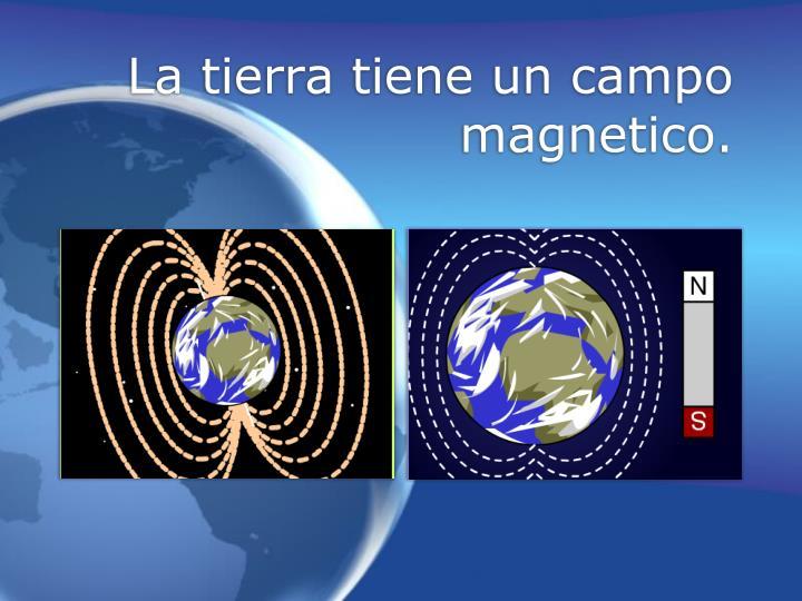 La tierra tiene un campo magnetico.