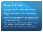 prosperity triangle