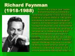 richard feynman 1918 1988