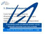 1 directori independen i