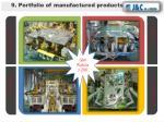 9 portfolio of manufactured products