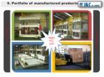 9 portfolio of manufactured products3