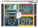 9 portfolio of manufactured products4