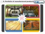 9 portfolio of manufactured products5