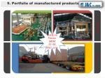 9 portfolio of manufactured products6