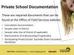 private school documentation