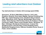 leading retail advertisers trust outdoor