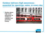 outdoor delivers high awareness essential for openings sales or every day