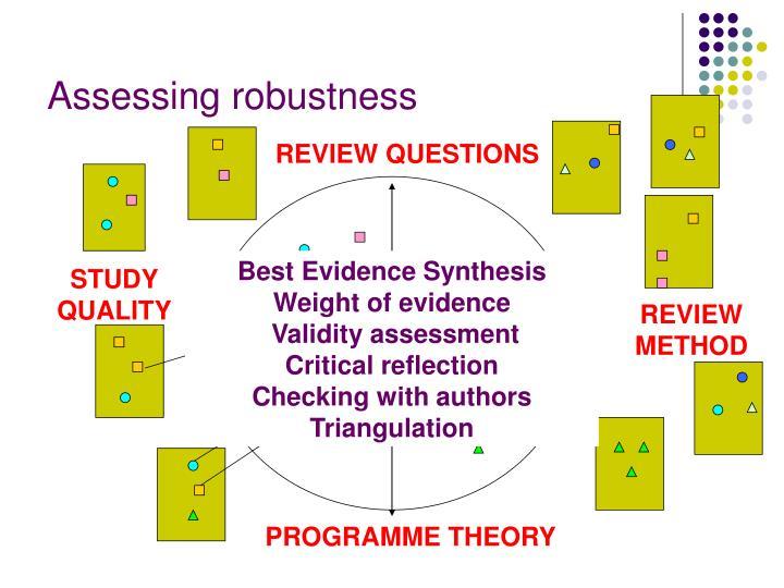 Assessing robustness