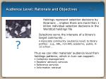 audience level rationale and objectives