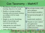 cox taxonomy mathkit