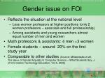 gender issue on foi